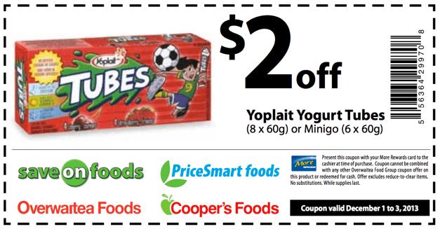 Save on Food Yoplait Coupon
