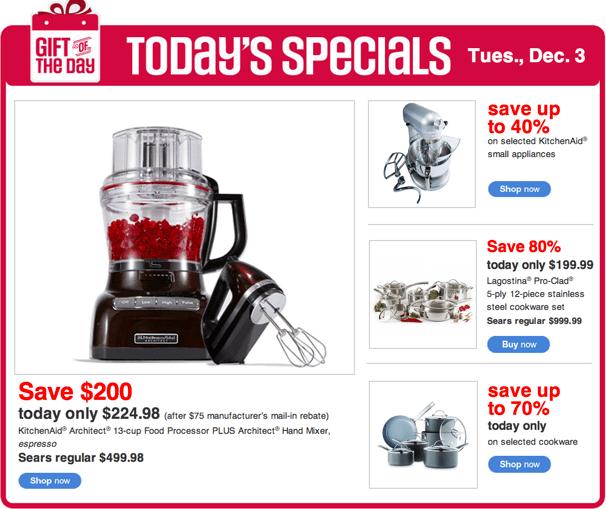 Sears Canada Today's Specials