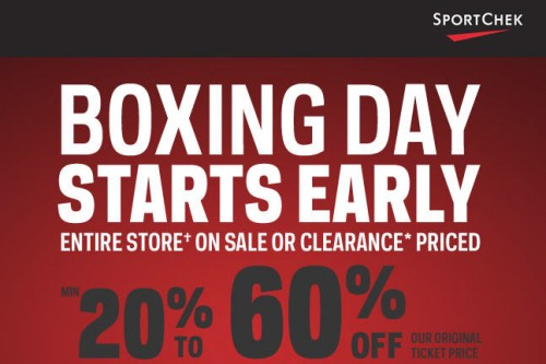 Sport Chek Boxing Day Starts Now Save 20