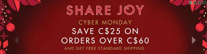 Starbucks canada Cyber Monday 2013 Sales