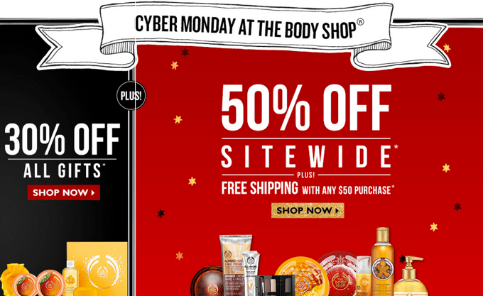 The Body Shop Canada Cyber Monday Sale 2013png