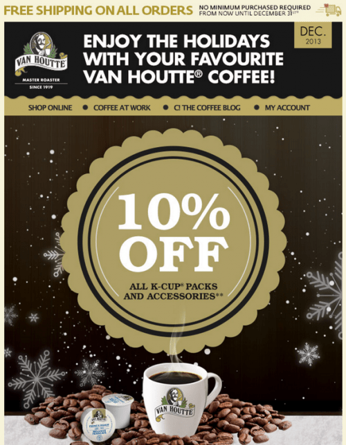 Van Houtte Canada Offer and Free Shipping