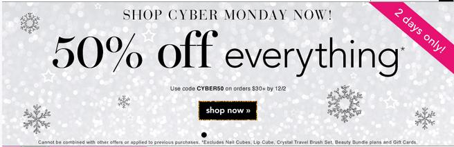 e.l.f. Cosmetics Cyber Monday 2013