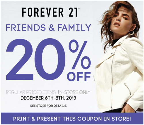 Forever 21 has offered a sitewide coupon (good for all transactions) for 30 of the last 30 days. As coupon experts in business since , the best coupon we have seen at Forevercom was for 80% off in November of