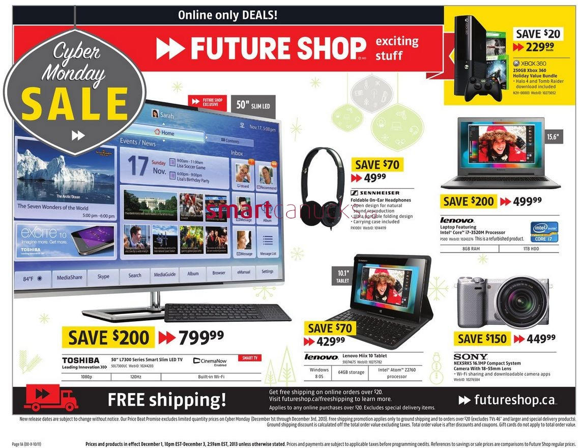 Future Shop Cyber Monday Flyer 2013 Canadian Freebies