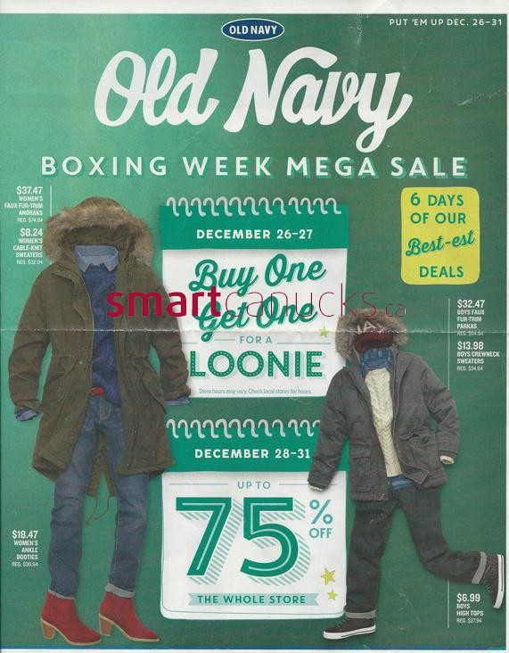 The deals are crazy this Boxing Day at Old Navy! Shop and save up to 60% off site wide PLUS an EXTRA 50% off ALL Old Navy Clearance merchandise.