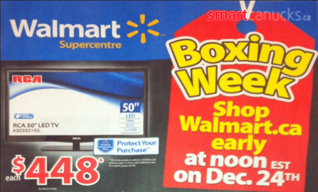 Walmart canada boxing day flyer 2013 leaked full boxing week sale