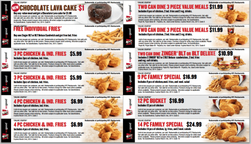 Kentucky coupons canada