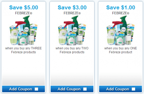 Febreze printable coupons