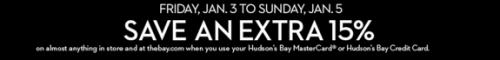 Hudson's Bay Canada offer