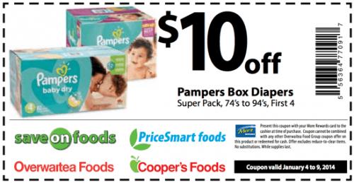 $10 pamper coupons