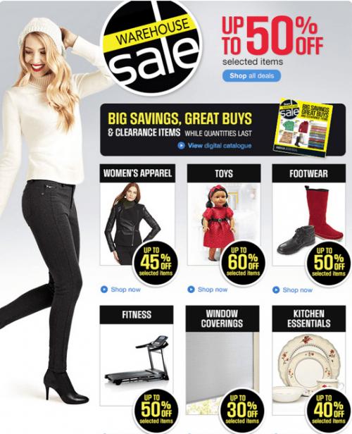 Warehouse Sale Sears Canada