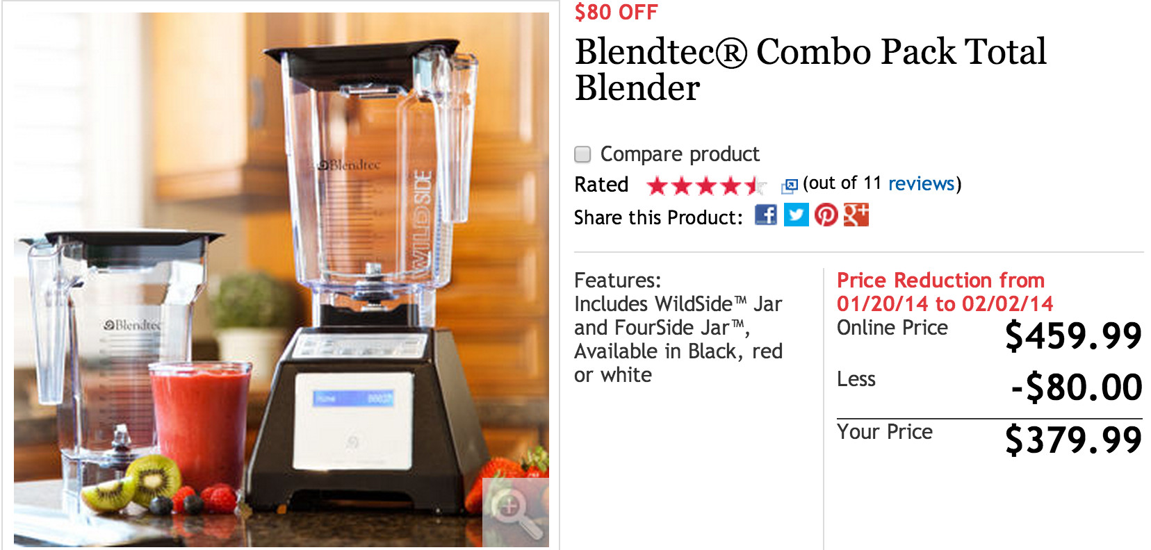 The official store of Blendtec Promo Code & Deals offers the best prices on Home & Garden and more. This page contains a list of all Blendtec Promo Code & Deals Store coupon codes that are available on Blendtec Promo Code & Deals store.