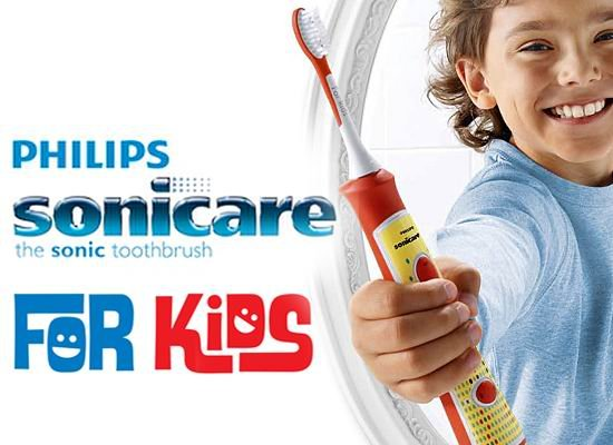 Philips Sonicare for Kids Rechargeable Electric Toothbrush HX/02 Bundle with Sonic Kids Replacement Toothbrush Heads HX Pack of 3 Compatible with All Kids Sonicare Models - 4 Items.
