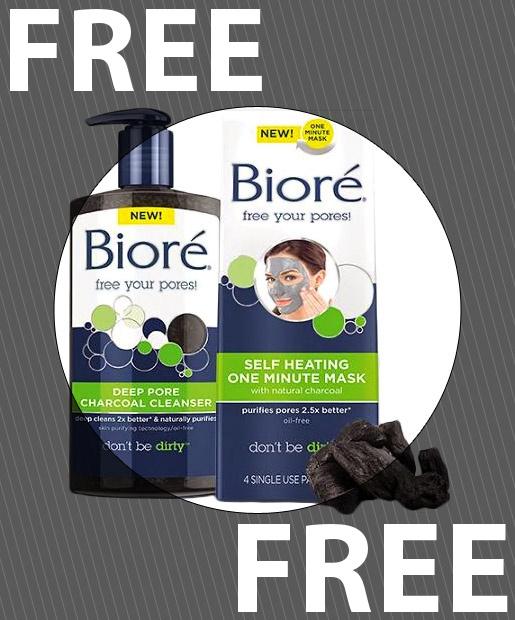 Bioré Skincare Canada Free Samples: Biore Deep Pore Charcoal ...