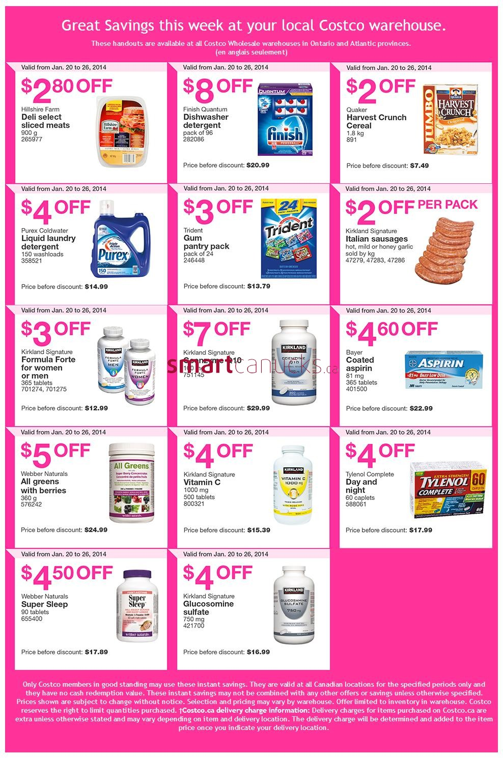 Costco Canada Flyers Coupons For Jan 20 26 Ontario