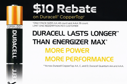 Duracell coupons canada