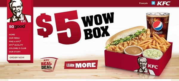 KFC Coupons. KFC is a restaurant that offers delicious fast foods with fried chicken, pasta, hamberger, buffet and more. Find the lastest KFC specials and coupons to get your meals and save much!