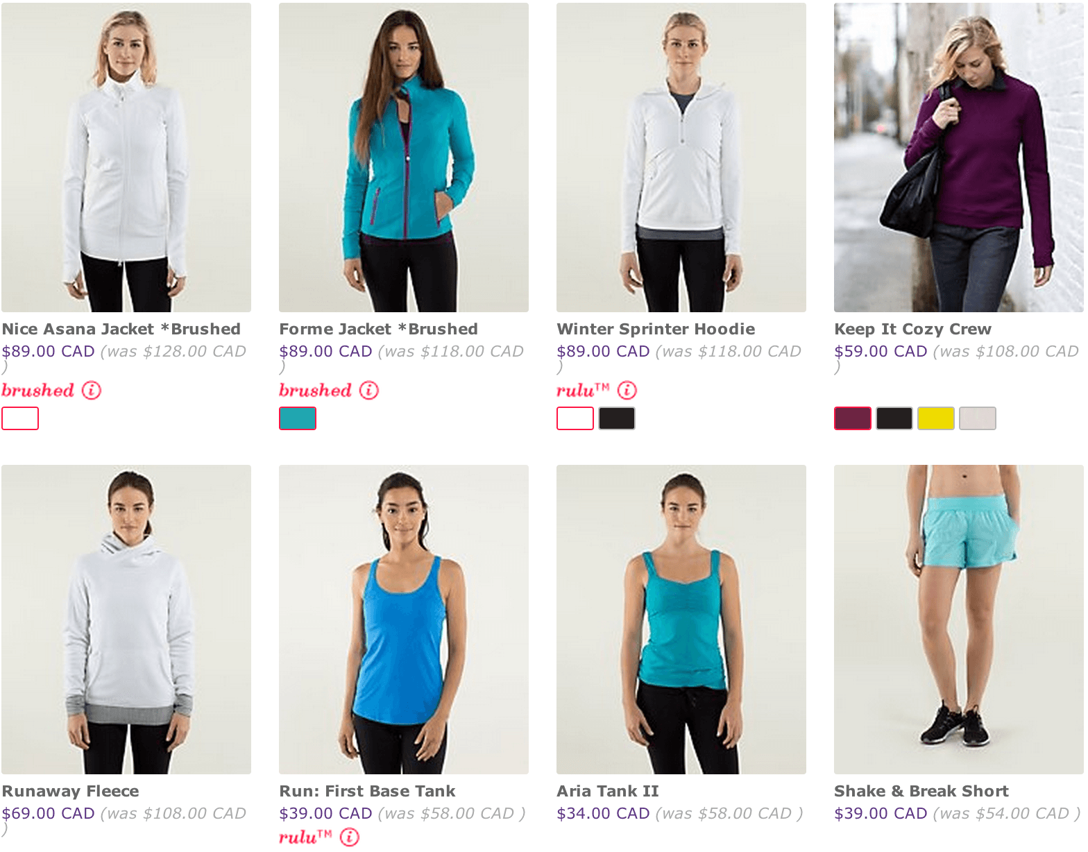 Online clothing sales canada