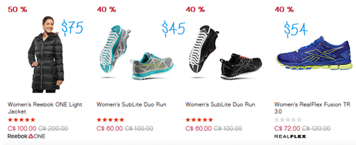 Reebok Canada: Sale Items 40% Off