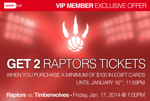 sale retailer b5ff7 365b3 Get Two Free Tickets To Toronto Raptors Vs Timberwolves ...