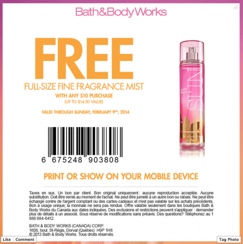 Bath and body works coupons canada printable 2018