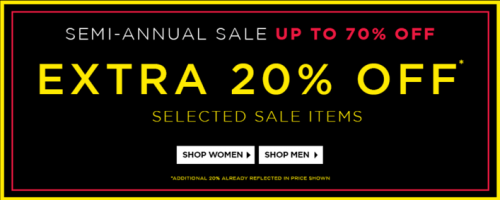 Browns Shoes Canada Semi-Annual Sale