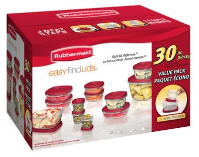 Walmart Ca Canada Deal Rubbermaid 30 Piece Easy Find Lids