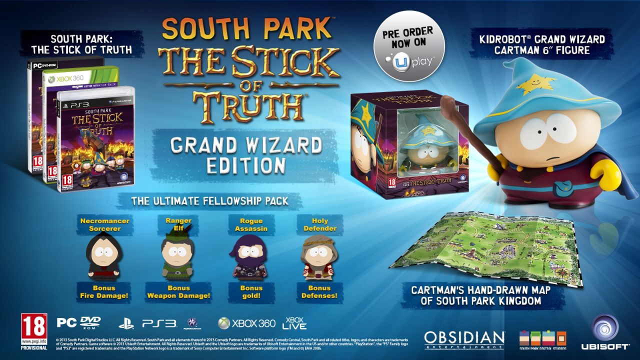 : The Stick Of Truth Grand Wizard Edition for XBOX 360, Playstation 3