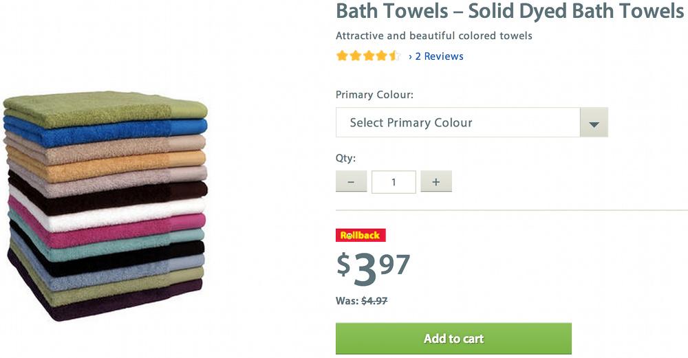Walmart Ca Canada Deals Bath Towels On Clearance 3 97 Free