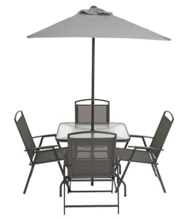 Inspirational cranston piece sling folding patio set
