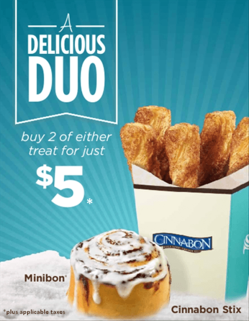 delicious duo cinnabon