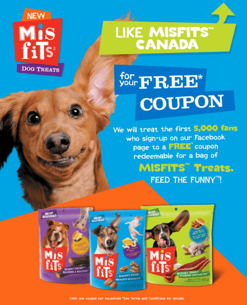 free misfits dog treats