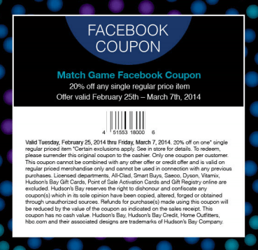 home outfitters facebook coupon