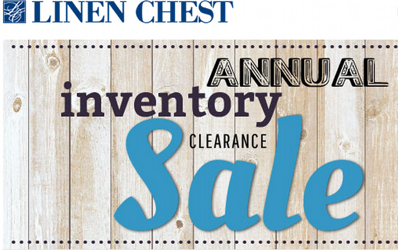 Linen Chest Canada Annual Inventory Clearance Sale
