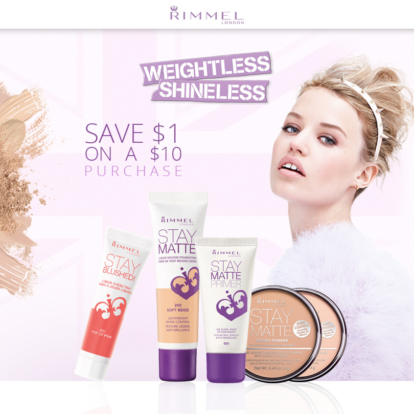 picture about Rimmel Printable Coupons named Rimmel London Canada Printable Coupon: Preserve $1 upon a $10