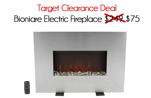 Target Clearance Deal Bioniare Electric Fireplace 75