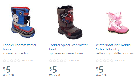 Walmart Canada Clearance: Youth Boots