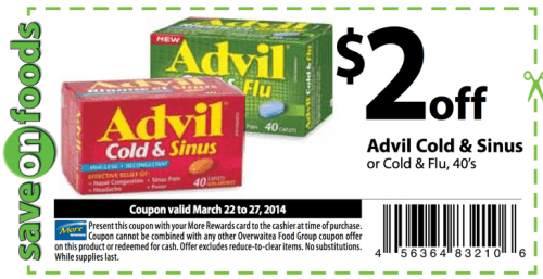 picture regarding Advil Printable Coupon identify Conserve upon Foodstuff Community Printable Discount coupons: Help you save $2 Upon Advil Chilly