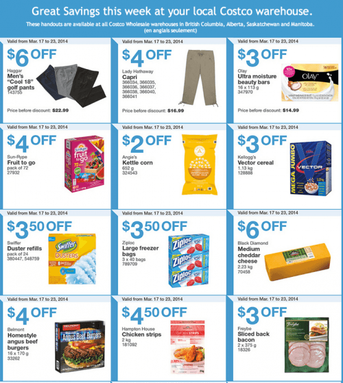 Costco canada western weekly instant handouts coupons flyers in