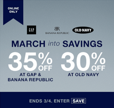 Gap, Old Navy & Banana Republic  Canada Deals Online