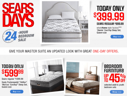 Sears Canada One Day Deal