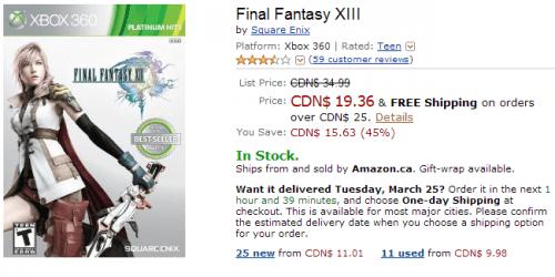 amazon final fantasy xbox 360