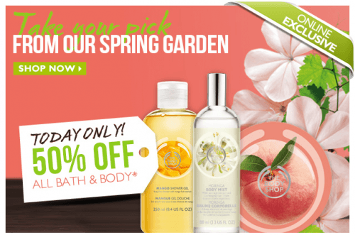 bath and body 50 off
