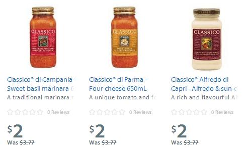 walmart canada les sauces pour p tes classico 2 seulement en ligne et en magasin. Black Bedroom Furniture Sets. Home Design Ideas