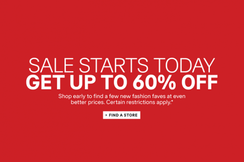 h&m up to 60 percent off