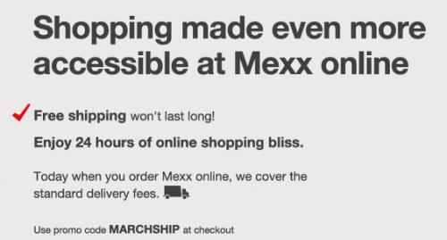 mexx free shipping