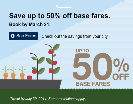 porter airlines 50 off