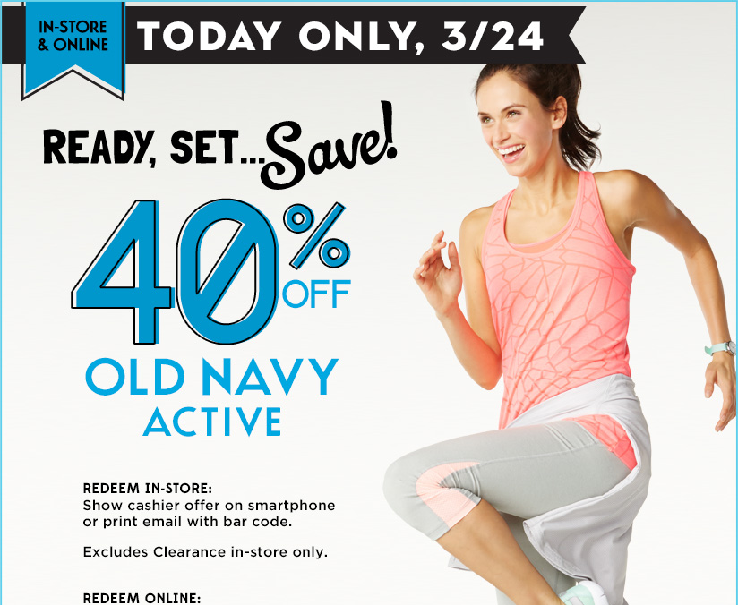We have hand-picked today's best deals for Old Navy. Get the best deals on all Old Navy products only at BeFrugal.