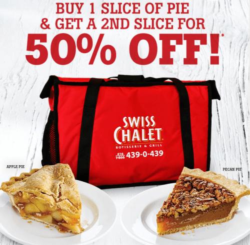 swiss chalet buy one get one pie